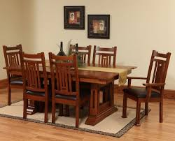 White Oak Dining Room Set - oak furniture dining tables countryside amish furniture