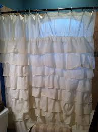 Gray Ruffle Shower Curtain Our Hopeful Home Diy Ruffle Shower Curtain