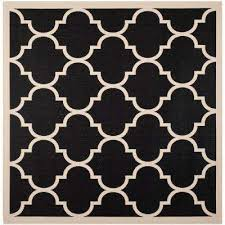 Outdoor Rug Square Square 1 6 Black Outdoor Rugs Rugs The Home Depot