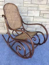 Cane Rocking Chair Bentwood Rocker Chairs Ebay