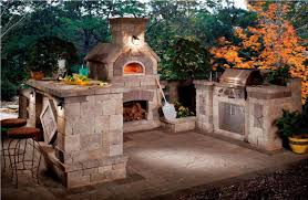 outdoor pavestone fireplace on patio fire place and pits