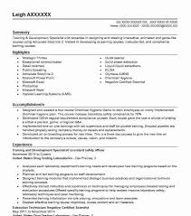 Sample Resume For Trainer Position by Best Training And Development Resume Example Livecareer