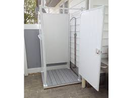How To Build An Outdoor Shower Enclosure - outdoor shower enclosures crafts home
