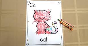 letter c activities sara j creations