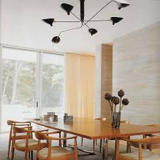 serge mouille six arm ceiling lamp modern lighting dining room