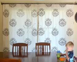 diy stenciled curtains and a giveaway from cutting edge stencils