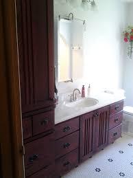 Mission Style Vanities Quarter Sawn Oak Mission Style Vanity U0026 Matching Linen Cabinet