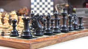 Metal Chess Set by American Adios Series Luxury Chess Set In Ebony Box Wood 4 4