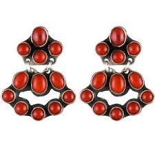 Red Chandelier Earrings Rocki Gorman Turquoise Mini Chandelier Earrings Pinto Ranch