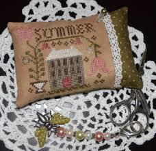 abby designs a summer pin pillow cross stitch pattern