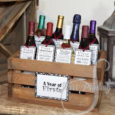 wine wedding gift bridal shower wine crate gift set with 8 tags and shower card