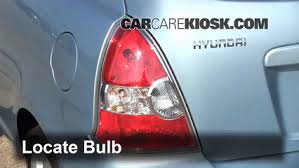 2007 hyundai elantra tail light bulb brake light change 2006 2011 hyundai accent 2007 hyundai accent se