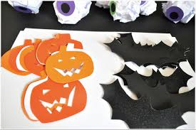 Halloween Garland Halloween Decorations Budget Creepy Pumpkins U0026 Bats Wall Garland