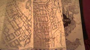 Harry Potter Map Harry Potter And The Marauders Map Youtube
