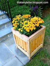 Diy Planter Box by That U0027s My Letter Diy Outdoor Planter