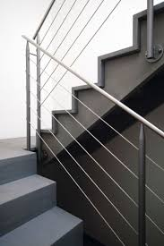 straight staircase half turn concrete steps concrete frame