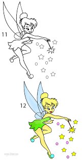how to draw tinkerbell step by step pictures cool2bkids