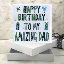personalised dad birthday book card by claire sowden design