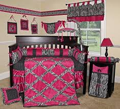 Pink Zebra Crib Bedding Sisi Baby Bedding Pink Zebra 15 Pcs Crib