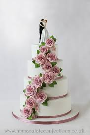 classic wedding cakes classic pink wedding cake cakes by natalie porter