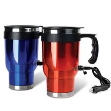 1 travel heated mug thermo stainless steel portable insulated