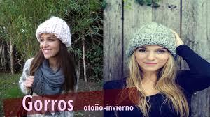modelos modernos para gorras tejidas con tejidos mujer gorros otoño invierno 2016 youtube