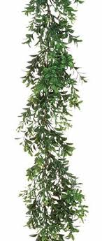 artificial boxwood garland wedding greenery afloral