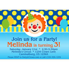 surprising circus theme party invitation wording features party