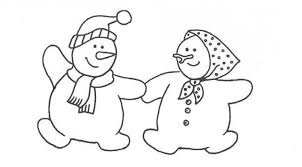 couple snowman coloring pages kids winter coloring pages