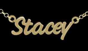 Name Chains Gold Large 9ct Gold Plated Challenge Style Personalised Name Necklace
