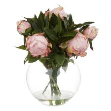 Flowers In A Vase Images Artificial Peony Flowers In Vase Laura Ashley
