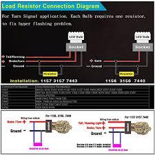 amazon com 1 pair 50w 8 ohm load resistor for led turn signal