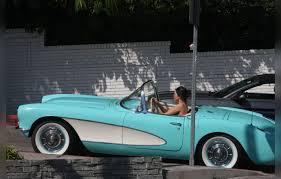vintage corvette kendall jenner takes a spin in her vintage corvette