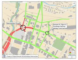 Map Akron Ohio by Odot To Start Removing Akron Innerbelt Feb 6 See What Roads Will
