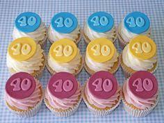 40th birthday cupcakes big 4 0 40th birthday