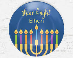 hanukkah tableware printables and personalized family gifts by bitsycreations on etsy