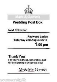 sign a wedding card personalised royal mail post box wedding card box silver 7x5