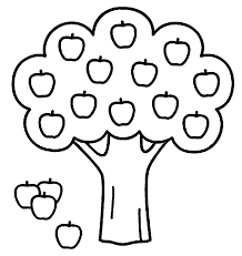 apple tree coloring pages wecoloringpage