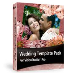 wedding template pack for videostudio