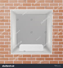 show window niche on brick wall stock vector 675452461 shutterstock