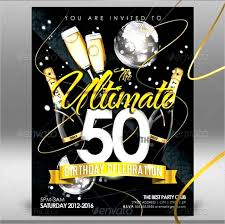 design free 50th birthday invitations for him templates with