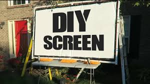 diy movie screen for projector the blind life youtube