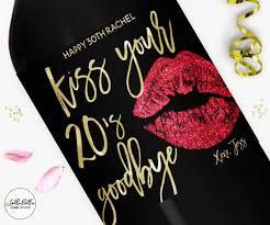 wine birthday gifts 30 birthday wine label your 20s goodbye chagne