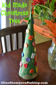 kid made christmas tree kid friendly craft glued to my crafts