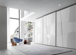 White Gloss Bedroom Shelves Presotto Shape Sliding Door Wardrobe With Matt Lacquered Gloss