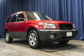 red subaru forester 2004 subaru forester 2 5x awd northwest motorsport