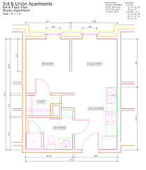 Studio Apartment Floor Plan by Iu Rps 3rd U0026 Union Apartments