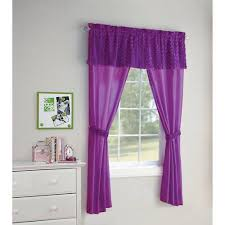 your zone 5 piece poodle window in a bag set curtain panels and