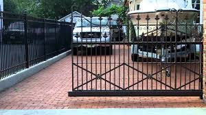 wrought iron sliding gate using our cantilever gate hardware youtube