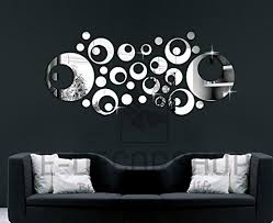 modern wall decals for living room colorfulhall round cycle modern art fashional mirror clock wall